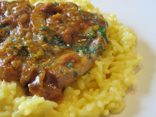Risotto all amilanese con ossobuchi